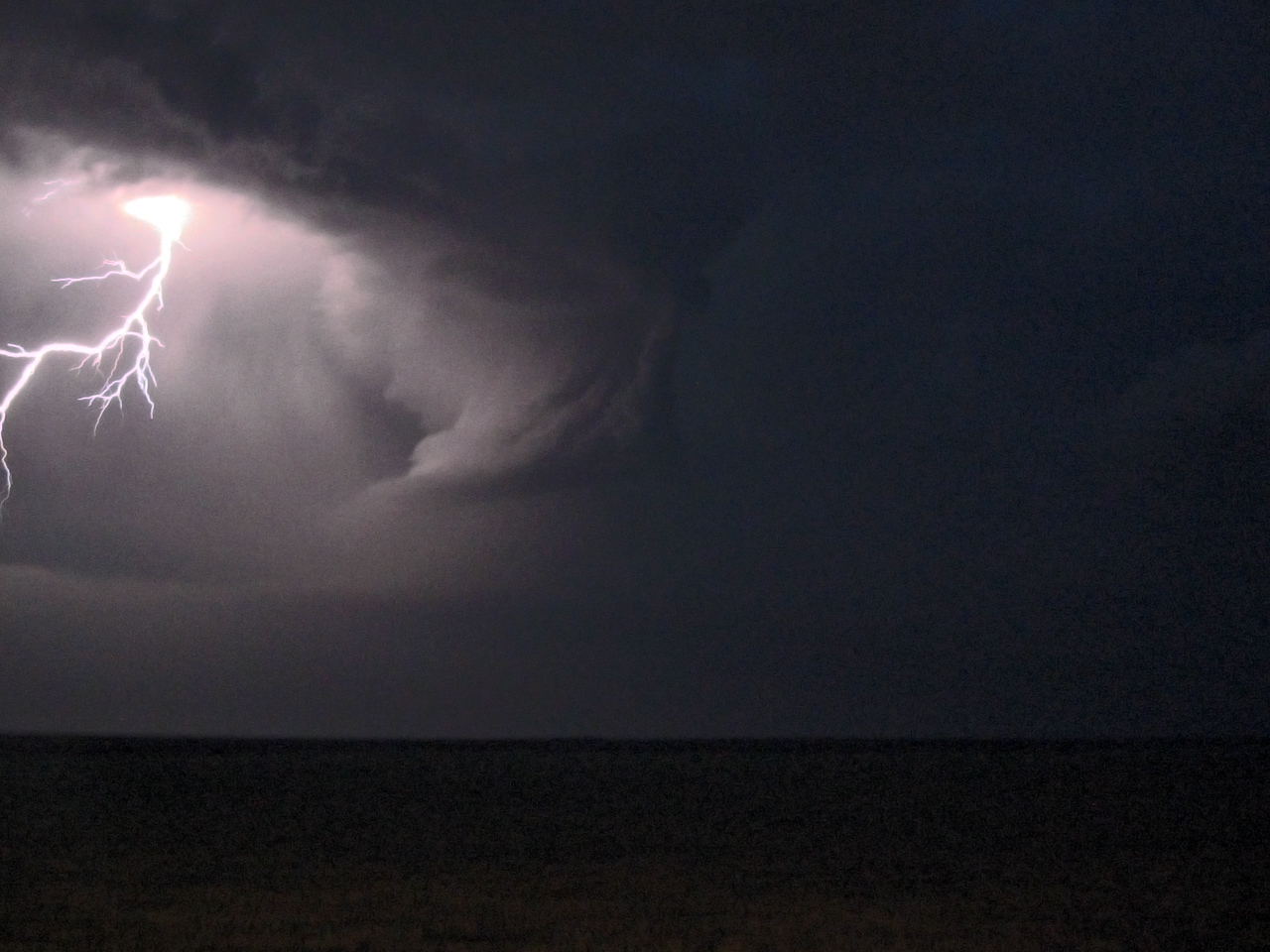 Lightning and a Mesocyclone