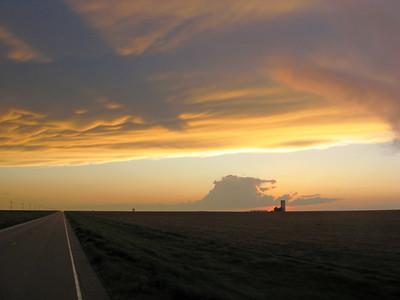 Cloud Shadows at Sunset