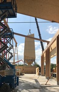 08 Werkhof Sissach | Konstruktion der Einstellhalle und Aufrichten des Salzsilos