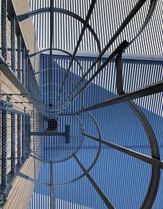 16 Werkhof Sissach | Steigleiter zum Salzsilo und Dach