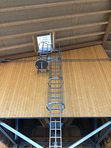 15 Werkhof Sissach | Steigleiter zum Salzsilo, Verkleidung Salzsilo und Dachkonstruktion des Aussenlagers