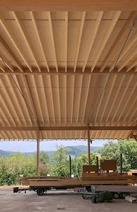 11 Werkhof Sissach | Dachhkonstruktion Aussenlager in Buchen- und Fichtenholz