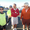 WE ARE BUNDLED FOR OUR CHILLY START.<br /> <br /> (THIS IS ONE OF SEVERAL BIKE GROUPS AT THE VOYAGER.)