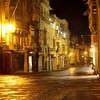 Valletta : la rue principale à une heure du matin. Malte