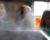 HOLLY PELCZYNSKI - BENNINGTON BANNER Village School of North Bennington second grader Laney Rogers watches steam rise while sap is boiled during a visit to a local neighborhood sugaring farm on Monday in North Bennington.