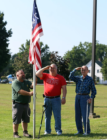 VT Veterans home lowers flags. 082918