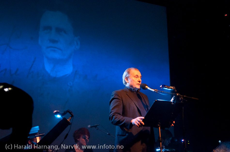 2.4.2011: Konsert Lokstall 1, Arctic Mood. Jazz og bilde/video av Brynjar Rasmussen (foto) og Werner Anderson (komp). Tekst lest av Bjørn Sundquist.