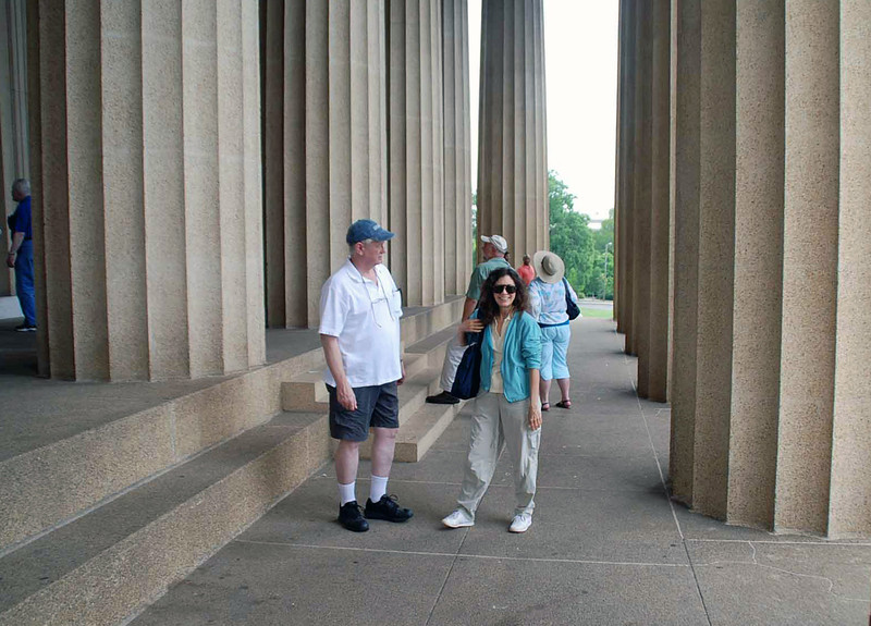 The Vanderbilt Fencing Club alumni at the Parthenon.
