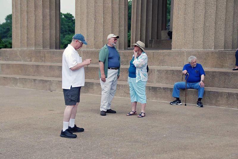 The alumni at the Parthenon.