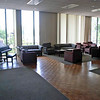 The main lounge in Carmichael West (Towers #3 and #4).