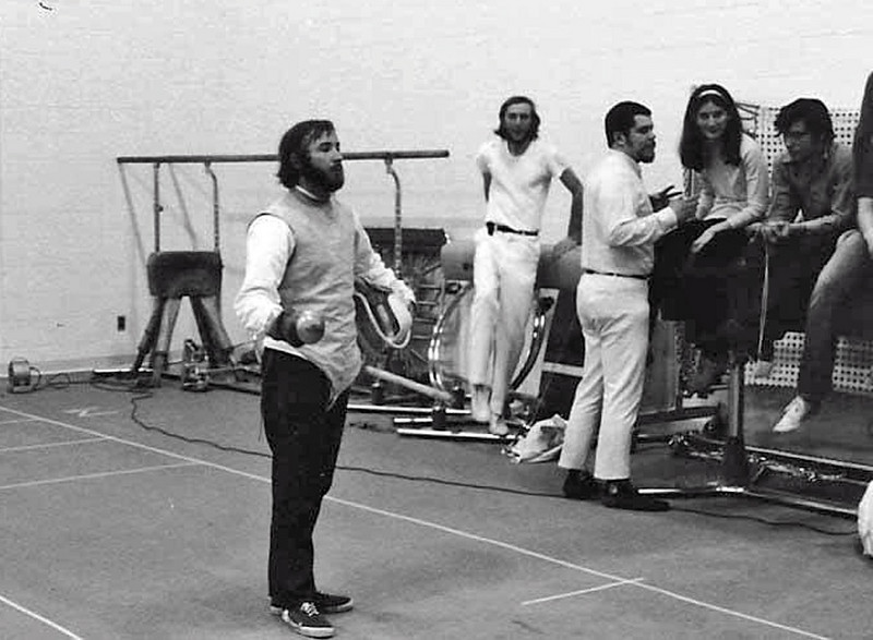 In background from left: James Hunter, Steve Block, Dorothy Moore, Wayne Galella.