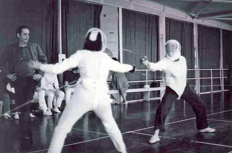 Linda Higgins fencing on left?