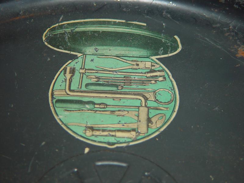 """1951 16"""" VW Hazet tool kit"""