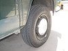 New Hankook RA08 LT tire in 185R14 at right front