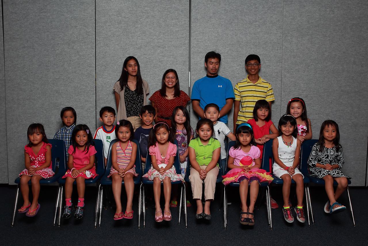 Class 1A1 - Cô Nguyễn Thảo Linh, TA Tiffany, TA KD, TA Kevin