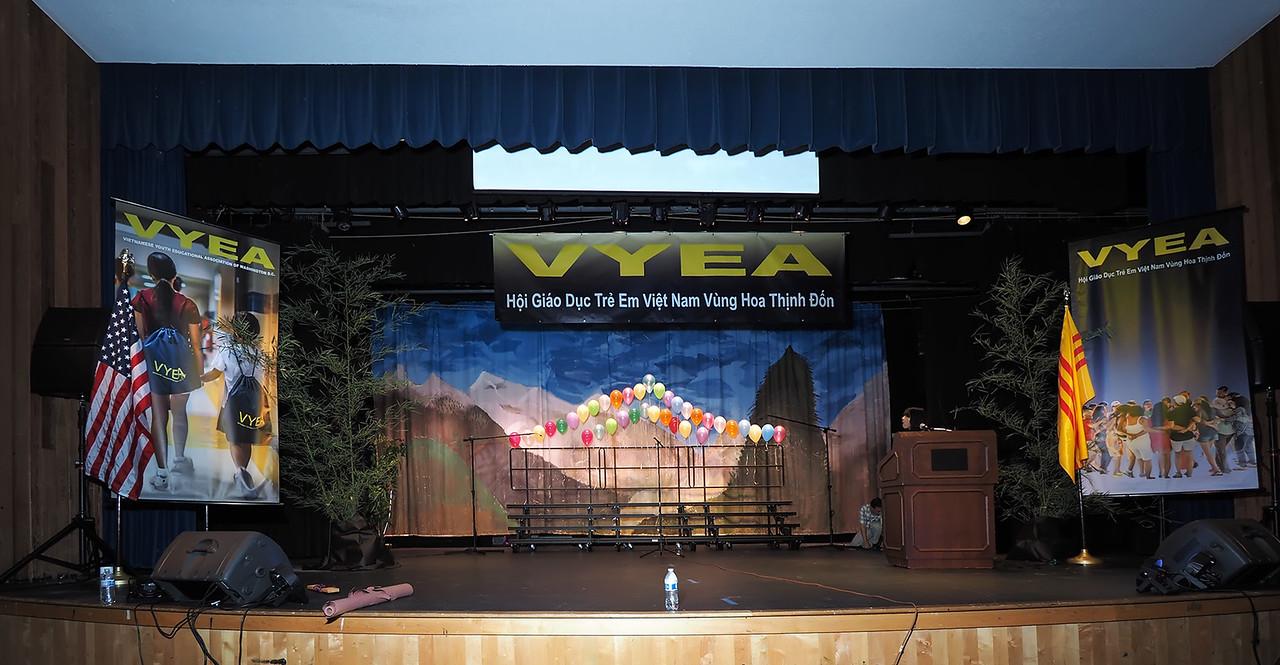 Stage of Auditorium, Robert E. Lee High School, Springfield Virginia, Thursday August 6, 2015