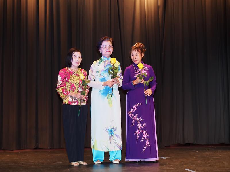Of the VYEA Advisory Board: Writer Lê Thị Nhị, Ms. Lê Tống Mộng Hoa, Miss Kim Oanh.
