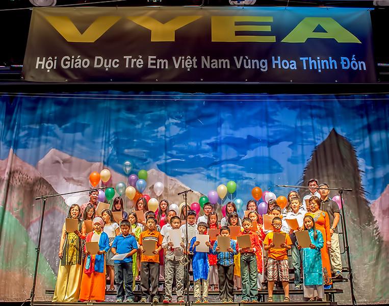 """Cô Tuyết Mai, thầy Phong, thầy Trực - Classes 2C, 2D and 3C - """"Nhà Việt Nam"""""""