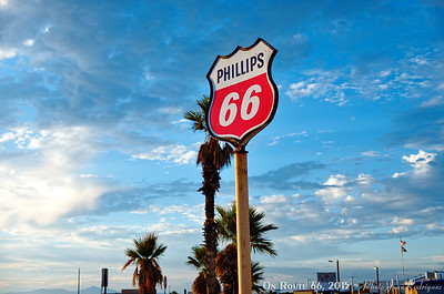 66 gas sign