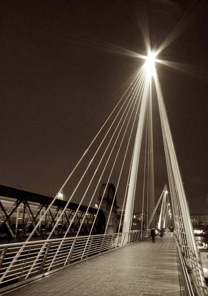 The Millennium Bridge.