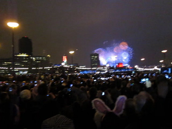Video of New Years fireworks in London.