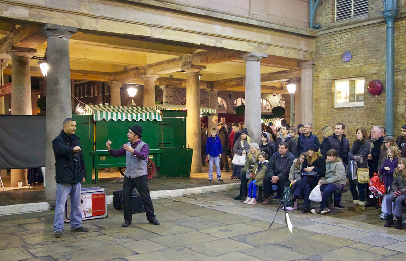 Magician and juggler at Covent Garden.