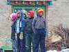 Kids in a small village, watching the trekking show come to town.