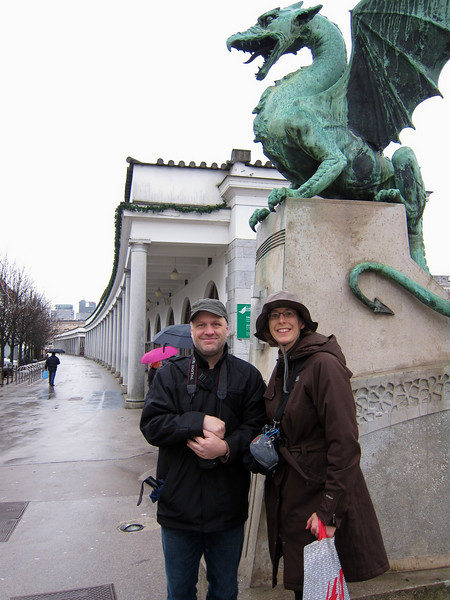 Ken and Monique at the Dragon Bridge.