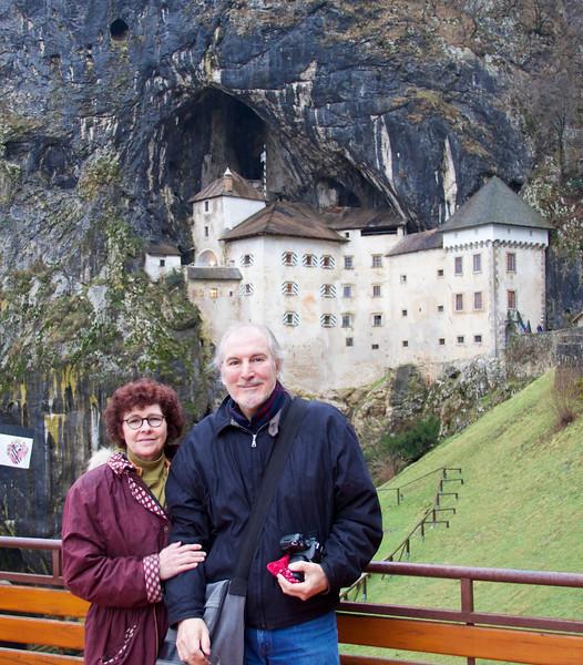 Edward and Kerry in front of the Predjama Castle, Postojna Slovenia.