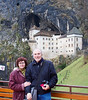 Edward and Kerry in front of the Predjama Castle, Postojna Slovenia.