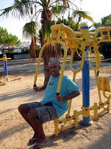 In Ibiza, the play grounds have gym equipment so you can get pumped up for the clubs instead of of stuff for the kids