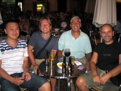 small world - ran into friends from London who we never met in person - just internet
