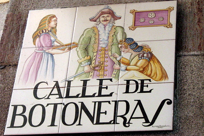 In Medieval times, street signs were both words and pictures because of the high rate of people who could not read