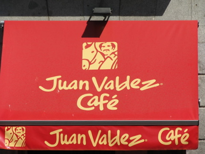 If you wonder what ever happened to Juan Valdez after he stopped making commercials, he is competing with Starbucks