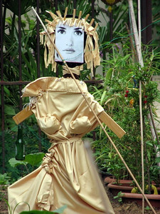 French scarecrow in a garden