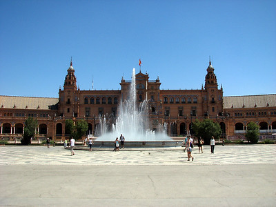 Plaza Espana in Seville, Used in one of the Star War movies as a palace