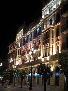 Night Street Scene in Seville