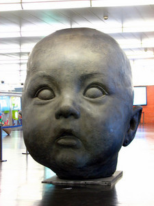Baby's head at Madrid Train Station