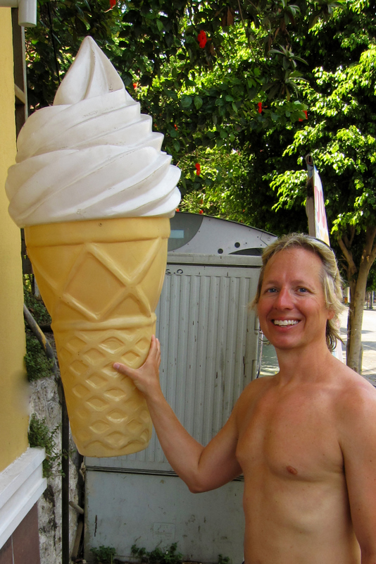 When it is this hot out, It takes a big ice cream cone to cool you off!