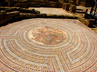 Mosaics from 2nd century AD, the House of Orpheus, Pafos