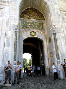 Armed Guards outside Topkapi (the Sultan's) Palace