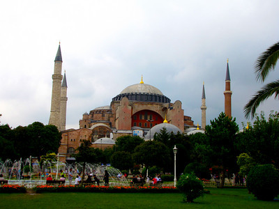 Hagia Sophia - the guide book calls it the most spectacular church ever built.  Built between 532AD and 537 AD