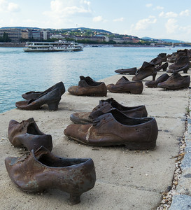 Holocaust Memorial - the shoes represent those shot and thrown into the Danube