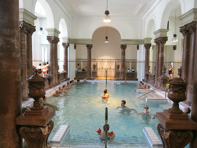 A pool at the Szechenyi Baths
