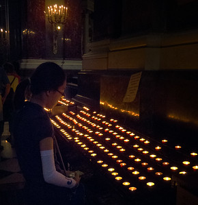Candles in St. Istvan Basilica