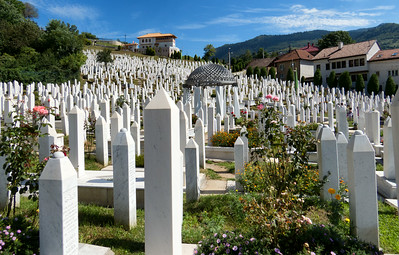 Memorial Cemetery to for all those who were slaughtered.  People had to be buried at night to avoid the snipers