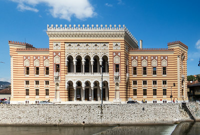The City Hall destroyed in the Bosnian and Serb war in 1992, finally reopened in 2014