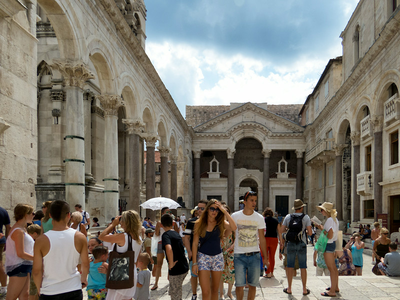 The Central Square of Diocletian's Palace from around 305 AD