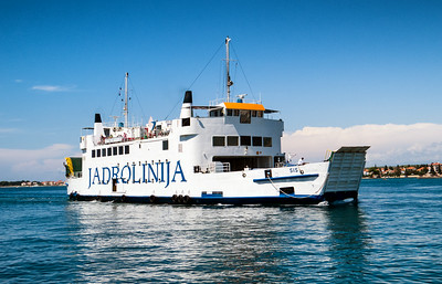 Zadar is a major transportation hub - ferries are constantly coming and going