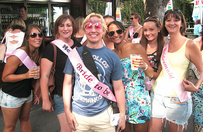 Crashing a bachelorette party